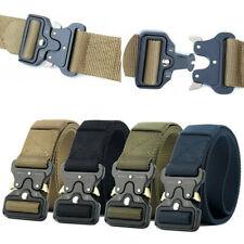 Trabajo De Liberación Rápida Cinturón Táctico Senderismo Para Hombres Ejército Nylon Hebilla de metal cinturón