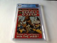 COMBAT KELLY 1 CGC 9.2 WHITE PAGES ORIGIN DEADLY DOZEN MARVEL COMICS