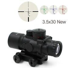 3.5X30 Tactical Optics Scope RGB Illuminated Hunting Scope Sniper Gear 20mm