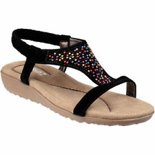 Multi-Coloured Synthetic Wedge Women's Sandals & Beach Shoes
