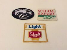 3 SEWN ON BEER PATCHES FITGERS SPECIAL EXPORT SCHMIDT