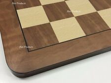 """LARGE 19"""" WOODEN CHESS BOARD NATURAL MAPLE & WALNUT WOOD NEW"""