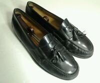 Cole Haan Pinch Tassel Black Leather Loafers Mens Dress Shoes 13 D Made In Italy