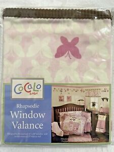 Cocalo Baby Rhapsodie Pink Butterfly Window Valance 36 x 48 NEW