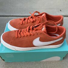 Nike SB Blazer Low - Coral Orange / White Size 10 New