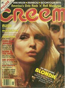 RARE - CREEM Magazine - June 1981 - Blondie RUSH Van Halen RAINBOW Boomtown Rats