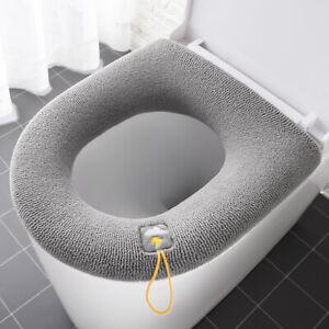 Winter Warm Toilet Seat Cover Pcs Washable Closes Mat Bathroom Accessories Fall