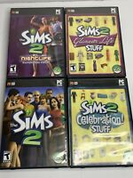 COMPLETE PC The Sims 2 Glamorous Life Nightlife Celebration Lot Of 4 CD Computer