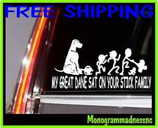 MY GREAT DANE SAT ON YOUR STICK FAMILY VINYL DECAL STICKER CAR TRUCK