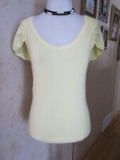 BCBG MaxAzria Light Yellow Knit Top Shirt Size M