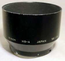 Nikon HS-4 Lens Hood 105mm f2.5 f4 Micro Nikkor Ai-s 52mm threads Genuine Shade