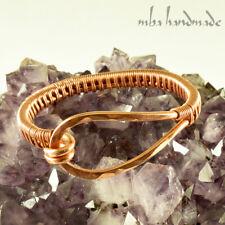 Copper Cuff Hammered Pure Copper Wire Wrapped Bracelet Unique Artisan Jewelry
