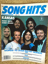 Song Hits Magazine 4/78 Kansas Barry White Kenny Rogers Stayin' Alive Peg
