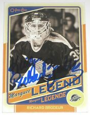 RICHARD BRODEUR SIGNED 12-13 O-PEE-CHEE MARQUEE LEGEND CANUCKS CARD AUTOGRAPH!