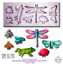 INSECTS Craft Sugarcraft Wax Resin Sculpey Silicone Mould Mold