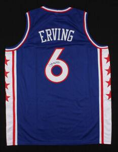 """Julius """"Dr. J"""" Erving Signed 76ers Jersey (JSA COA) 11xNBA All-Star (1977–1987)"""