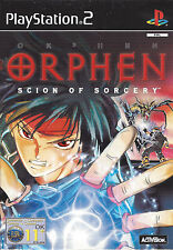 ORPHEN SCION OF SORCERY for Playstation 2 PS2 - with box & manual - PAL