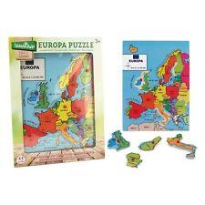 GIOCO PUZZLE IN LEGNO EUROPA LEGNOLAND GLOBO 30 X 40 CM