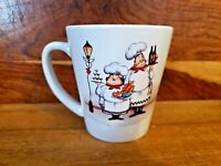 "Trisa ~ Italian Chef 4"" Coffee Mug ~ Never Used in Ex Cond"