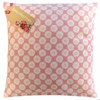 Vintage/Shabby Chic Clarke and Clarke Daisy Pink fabric Cushion Cover