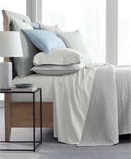 Hotel Collection Matelasse 525-Thread Count Cotton Yarn Dye Coverlet KING White