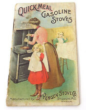 1900's Booklet Ringen Gas Stoves St. Louis Pictures to Trace of Girl Cooking