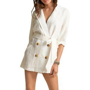 Billabong Womens Linen Tie Office Blazer Jacket BHFO 6530