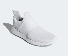 New Adidas Cloudfoam Lite Racer Adapt Men's Slip On Shoes BC0941-Triple White
