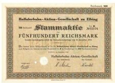 Haffuferbahn AG zu Elbing  1924
