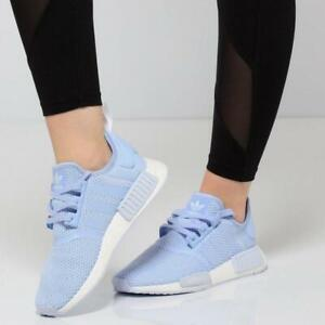Adidas Originals NMD_R1 W B37653 Women Casual Shoes Aero Blue/White