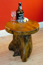 Root Wood Table 15 11/16in Side Tree Trunk Wooden Coffee Rustic