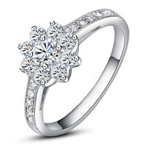 Diamond Ring 8450 #5 ViVi Ladies Engagement sterling silver