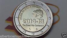 2 euro 2014 BELGIO 100 ° Prima Guerra Mondiale belgique belgie belgium belgica