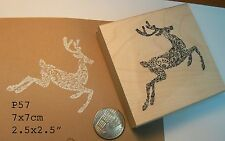 Deer, reindeer rubber stamp P57