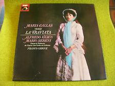 BOX 2 LP VERDI-CALLAS: LA TRAVIATA-FRANCO GHIONE -EMI 2 C 163-03893/4-MONO