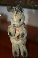 Steiff Känguruh Kangoo • Bärenkopf Brustschild • 14 cm • ab 1968 • Kangaroo