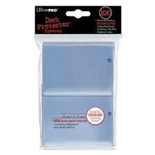 (100) Ultra Pro CLEAR Gaming Sleeves STANDARD Deck Protector Series