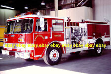 Fire Apparatus Slide Marin County CA Fire Dept - Tomales NEW 1991 Pierce CA42