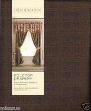 Brand New One Pair Croscill Valentina Drapes Gold & Dark Brown 82X84 L
