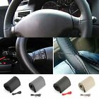 New DIY PU Leather Car Auto Steering Wheel Cover 38cm With Needles and Thread