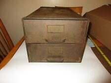 Vintage Baker Vawter Company Steel Metal Industrial File  Storage Cabinet 1918