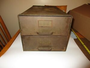 Antique Baker Vawter Company Steel Metal Industrial File  Storage Cabinet 1918