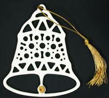 MIKASA Holiday Elegance WHITE PORCELAIN Gold Trim BELL Decoration NEW FK001/916