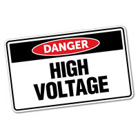 Danger High Voltage Authorised Sticker Decal Safety Sign Car Vinyl #6419ST
