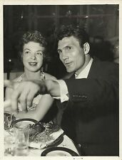 JACK PALACE & WIFE, VIRGINIA BAKER Original Candid at Party Photo 1950's