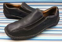 BORN BLACK LEATHER SLIP ON CASUAL LOAFERS WOMEN'S SHOES 7.5 / 38.5