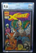 MARVEL COMICS - X-FORCE 1 CGC 9.6 - 8/91 - WRAPAROUND COVER POLY BAG REMOVED