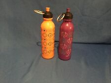 2 Reduce Reusable Water Bottles with Pop Tops and Rings
