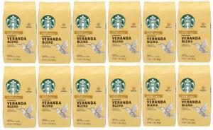Starbucks 12 Pack Veranda Blend Blonde Roast 12oz Ground Coffee Best By 7/1/2021