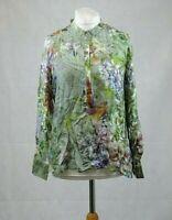 Ashley Brooke Silk Floral Tunic Blouse Size 14 Uk LN097 ii 02